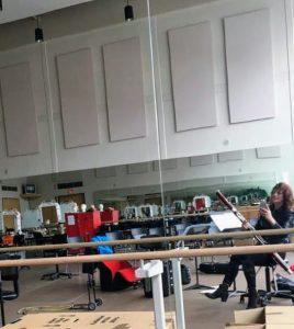 selfie in ballet studio