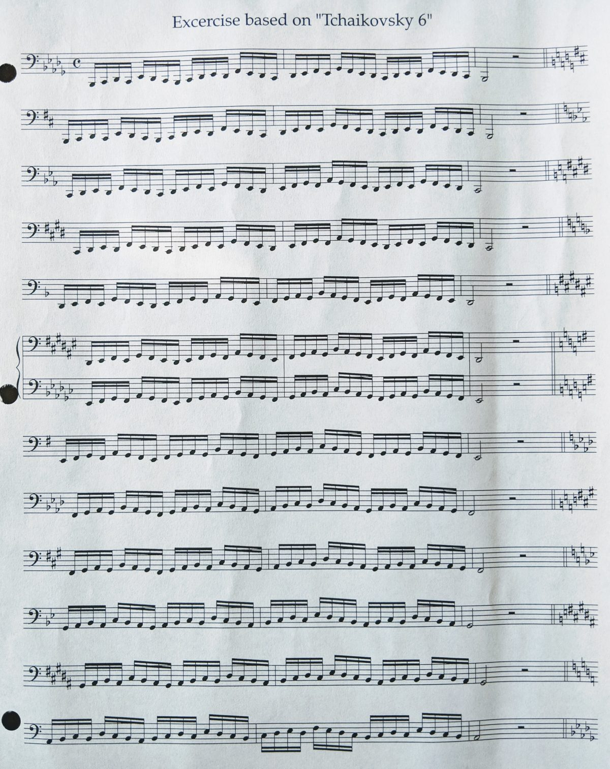 "Exercise Based on ""Tchaikovsky 6"""